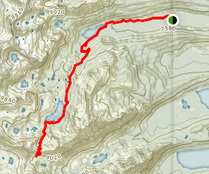 Imogene Lake Map