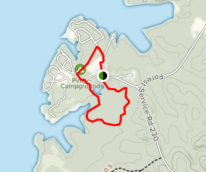 Piney Campground Map