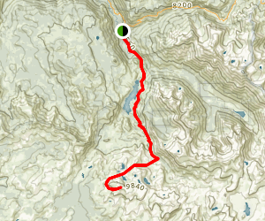 Kennedy Meadows to Granite Dome Map