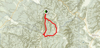 Rio Santa Barbara Middle Fork, East Fork, and West Fork Trail Loop Map