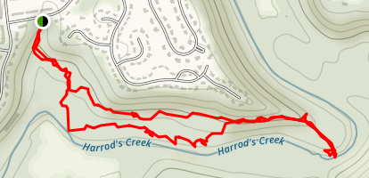 Harrod's Creek Trail Map