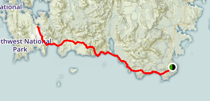 South Coast Track Map