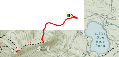 Sentinel Mountain Trail Map