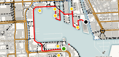 Baltimore's Inner Harbor Walking Tour Map