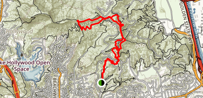 Mount Hollywood and Mount Bell Trail Map