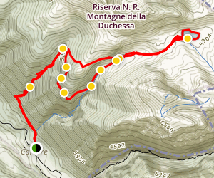 Cesa Valley, Cieco Valley and Duchessa Lake Map
