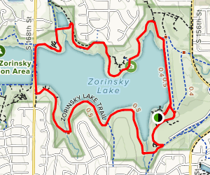 Zorinksy Lake Loop Trail Map