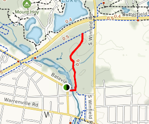 Warrenville Grove Forest Preserve Trail Map