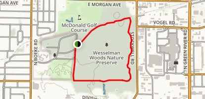 Wesselman Woods Loop Trail Map