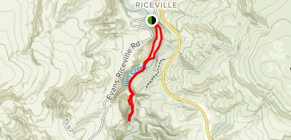 Sluice Boxes Trail Map