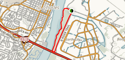 Riverwoods Earth City Levee Trail Map