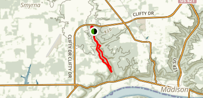 Clifty Falls Trails 8 & 2  Map