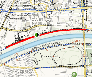 Sava River Levee Trail- Savski Nasip Map