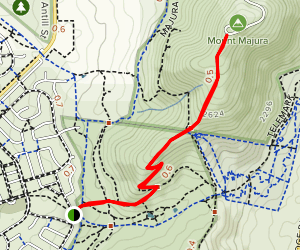 Mount Majura from Mackenzie Street Map