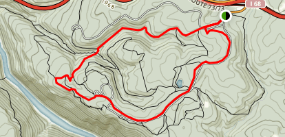 Coopers Rock Day Hike Map