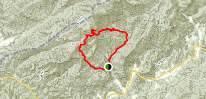 Hickey Fork Trail to White Oak Flats Trail Loop Map