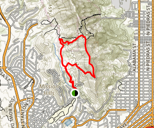 Comanche Peak Loop Trail Map