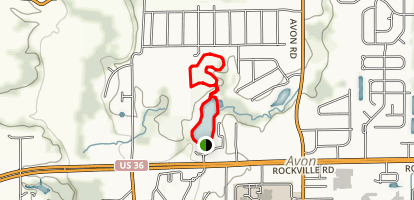 Avon Town Hall Park Loop Trail Map