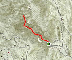 Queens Canyon Trail [CLOSED] Map
