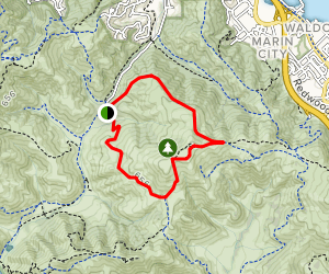 Marincello, Miwok, and Old Springs Loop Trail Map