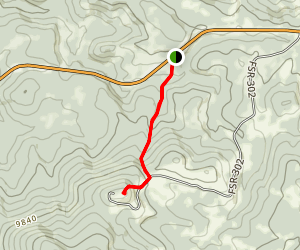 North Walton Peak Map