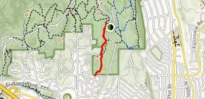 Old Colorado City Trail Via Buckskin Charlie Trail Map
