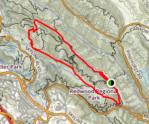 West Ridge Stream Trail Loop Trail Map