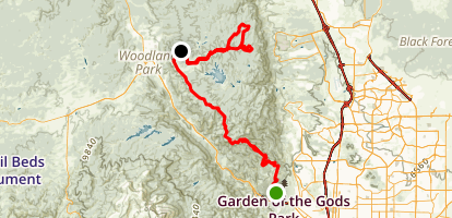 Mount Herman and Rampart Range Road Map