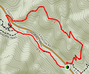 Hummingbird and Songbird Loop Trail Map