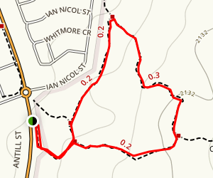 Clancy's Walking Track Map