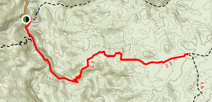 Palm Canyon Trail to Vandeventer Trail Map