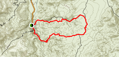 Fern Canyon Trail to Vandeventer Trail Loop Map