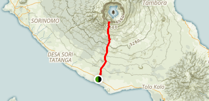 Mount Tambora (from South) Map