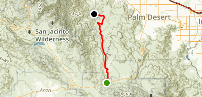 Palm Canyon via Hwy 74 Map