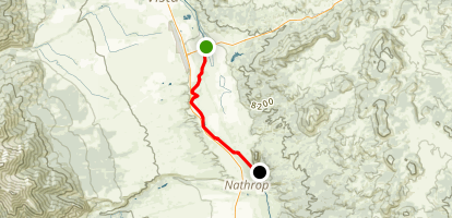 Arkansas River: Johnson Village to Nathrop Map
