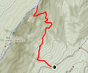 Big Schloss Cutoff Trail Map
