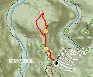 Machu Picchu and Huayna Picchu Loop Map