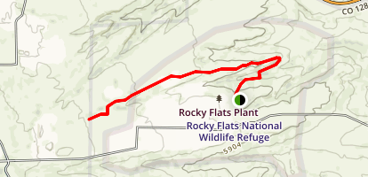 Rocky Flats National Wildlife Refuge Trail Map