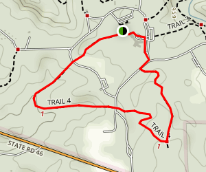 Trail 4: Canyon Inn to Firetower Map