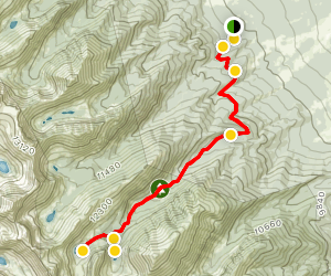 Lower and Upper Macey Lakes Via Rainbow Trail Map