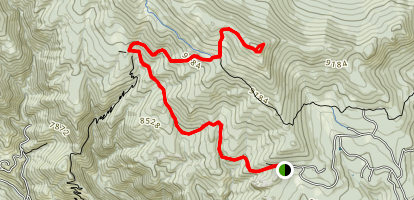 Storm Mountain Trail Map