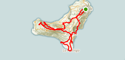 El Hierro Backpacking Trip Map