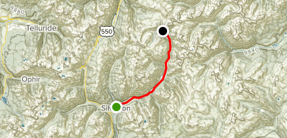 Silverton to Animas Forks Ghost Town Map