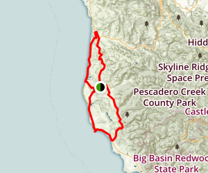 Pescadero and San Gregorio Cycling Loop Map