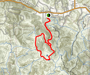Toyon Canyon Trail to Lagoon Trail Loop Map