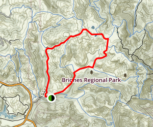 Abrigo Valley Trail to Mott Peak Trail Loop Map