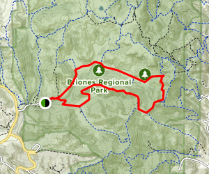 Briones Road Trail to Valley Trail Loop Map