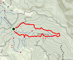 Red Rocks Area Trails Map