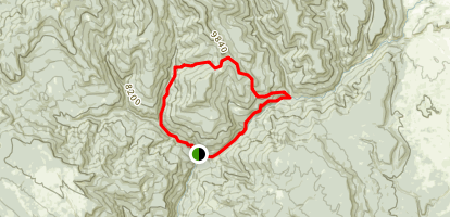 First Fork, Coldwater Creek, Piedra River, and Second Box Canyon Loop Trail  Map