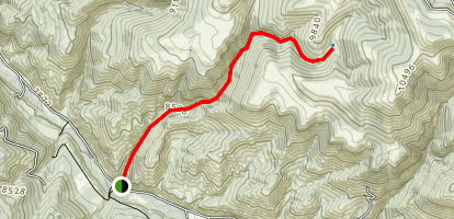 Yates Gulch Trail to Yates Reservoir Map